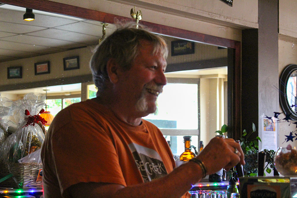 Head brewer Ron Chips