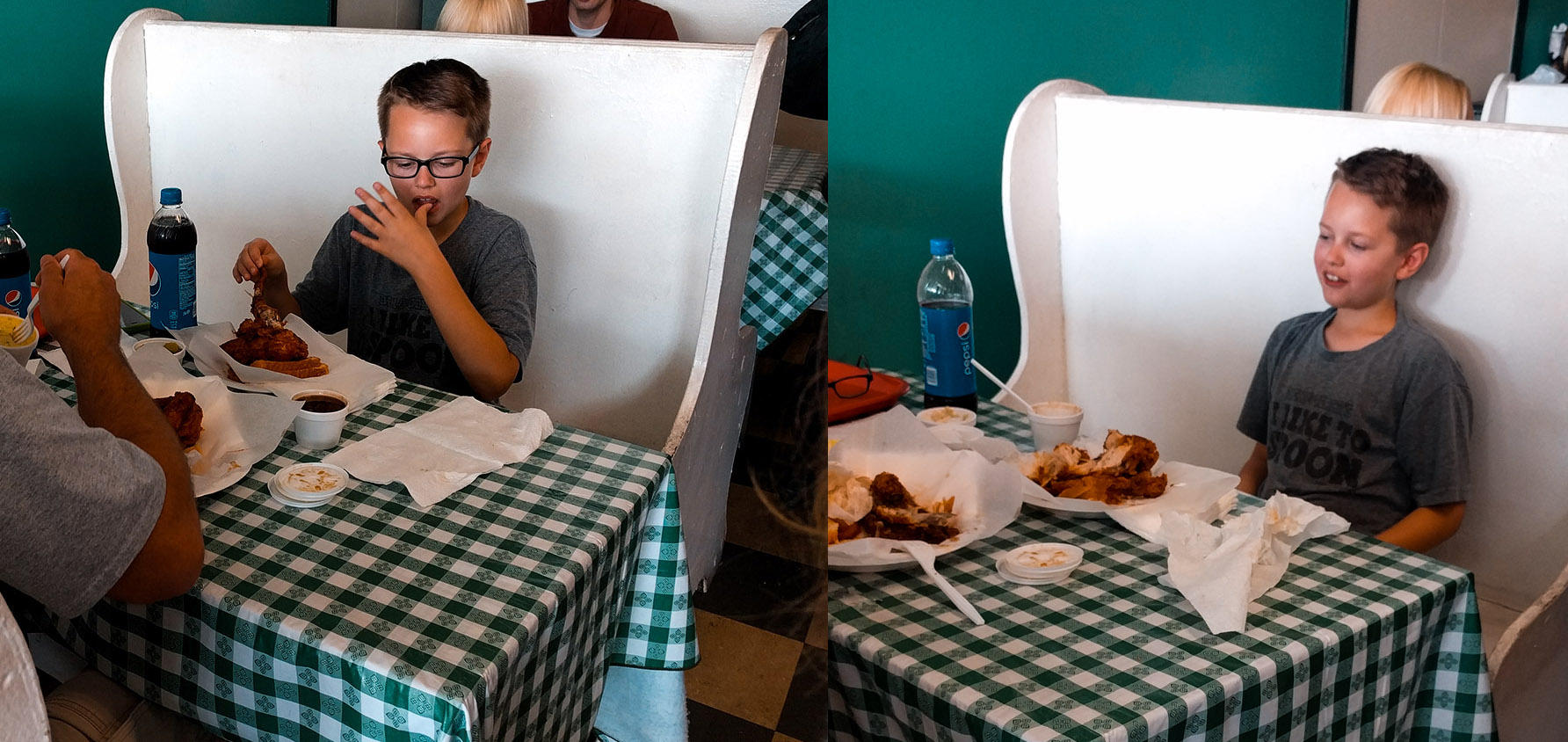 Before and after at Prince's Hot Chicken in Nashville