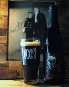 A dark sour beer Lugosi from Phantom Carriage Brewery