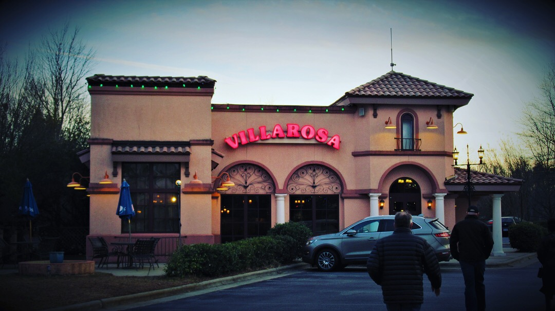 Exterior of Greensboro's Villa Rosa Italian restaurant.