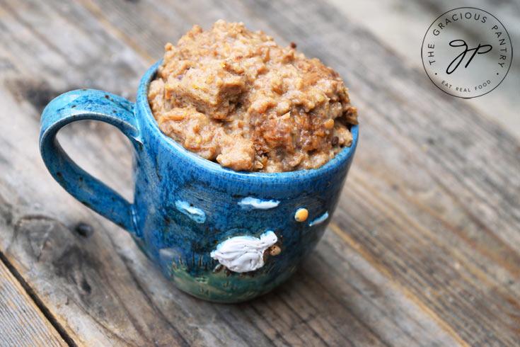 A blug mug full of Irish dessert Goody.