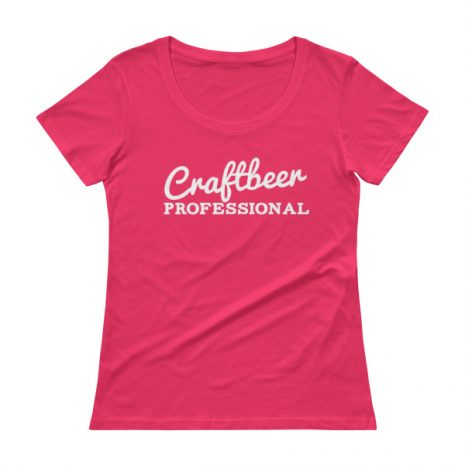 "Ladies shirt that says ""Craftbeer Professional"""