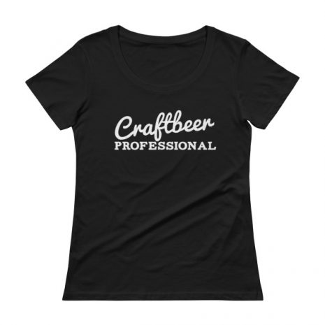 "Ladies shirt that says ""Craftbeer Professional"